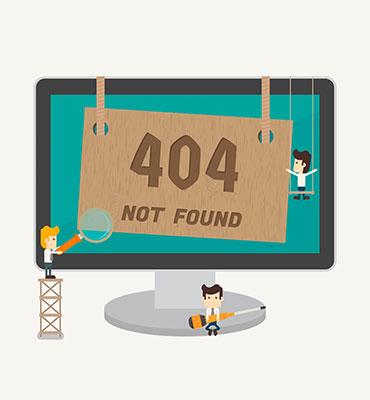 gráficos de páginas de error 404